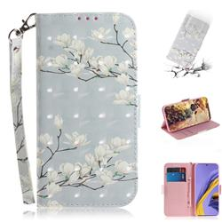 Magnolia Flower 3D Painted Leather Wallet Phone Case for Samsung Galaxy A51