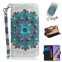 Peacock Mandala 3D Painted Leather Wallet Phone Case for Samsung Galaxy A51