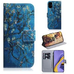 Apricot Tree PU Leather Wallet Case for Samsung Galaxy A51 4G