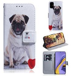 Pug Dog PU Leather Wallet Case for Samsung Galaxy A51 4G