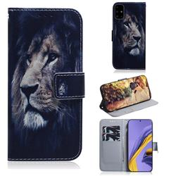 Lion Face PU Leather Wallet Case for Samsung Galaxy A51 4G