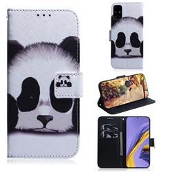 Sleeping Panda PU Leather Wallet Case for Samsung Galaxy A51 4G