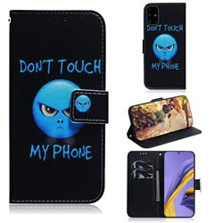 Not Touch My Phone PU Leather Wallet Case for Samsung Galaxy A51