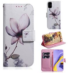 Magnolia Flower PU Leather Wallet Case for Samsung Galaxy A51 4G