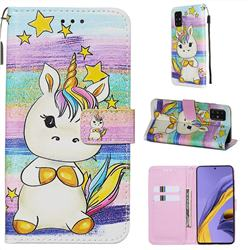 Spiral Pony Matte Leather Wallet Phone Case for Samsung Galaxy A51 4G