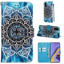 Underwater Mandala Matte Leather Wallet Phone Case for Samsung Galaxy A51 4G