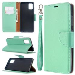 Classic Luxury Litchi Leather Phone Wallet Case for Samsung Galaxy A51 4G - Green