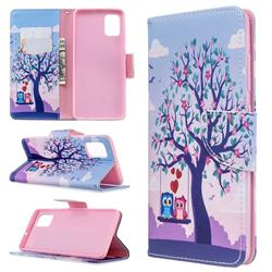Tree and Owls Leather Wallet Case for Samsung Galaxy A51 4G