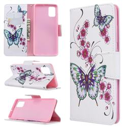 Peach Butterflies Leather Wallet Case for Samsung Galaxy A51 4G