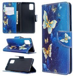 Golden Butterflies Leather Wallet Case for Samsung Galaxy A51 4G
