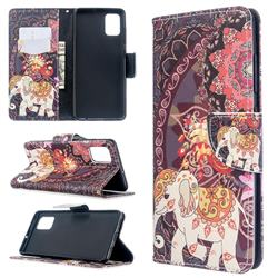 Totem Flower Elephant Leather Wallet Case for Samsung Galaxy A51 4G