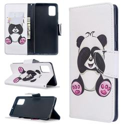 Lovely Panda Leather Wallet Case for Samsung Galaxy A51 4G