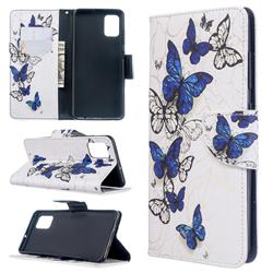 Flying Butterflies Leather Wallet Case for Samsung Galaxy A51 4G