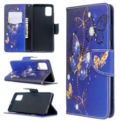 Purple Butterfly Leather Wallet Case for Samsung Galaxy A51 4G