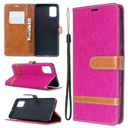 Jeans Cowboy Denim Leather Wallet Case for Samsung Galaxy A51 - Rose