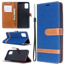 Jeans Cowboy Denim Leather Wallet Case for Samsung Galaxy A51 - Sapphire
