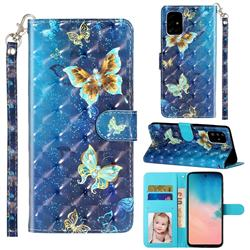 Rankine Butterfly 3D Leather Phone Holster Wallet Case for Samsung Galaxy A51 4G