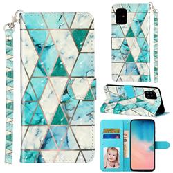 Stitching Marble 3D Leather Phone Holster Wallet Case for Samsung Galaxy A51 4G