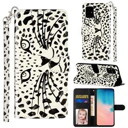 Leopard Panther 3D Leather Phone Holster Wallet Case for Samsung Galaxy A51 4G