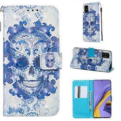 Cloud Kito 3D Painted Leather Wallet Case for Samsung Galaxy A51 4G