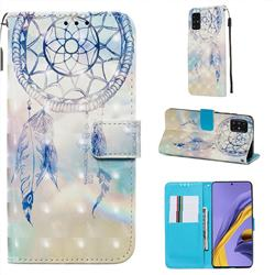 Fantasy Campanula 3D Painted Leather Wallet Case for Samsung Galaxy A51 4G