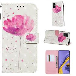 Watercolor 3D Painted Leather Wallet Case for Samsung Galaxy A51 4G