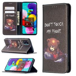 Chainsaw Bear Slim Magnetic Attraction Wallet Flip Cover for Samsung Galaxy A51 4G