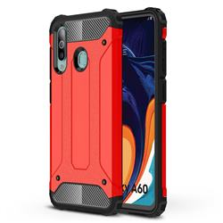 King Kong Armor Premium Shockproof Dual Layer Rugged Hard Cover for Samsung Galaxy A60 - Big Red
