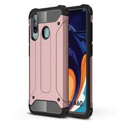 King Kong Armor Premium Shockproof Dual Layer Rugged Hard Cover for Samsung Galaxy A60 - Rose Gold