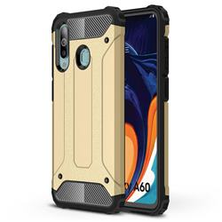 King Kong Armor Premium Shockproof Dual Layer Rugged Hard Cover for Samsung Galaxy A60 - Champagne Gold