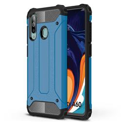 King Kong Armor Premium Shockproof Dual Layer Rugged Hard Cover for Samsung Galaxy A60 - Sky Blue
