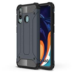 King Kong Armor Premium Shockproof Dual Layer Rugged Hard Cover for Samsung Galaxy A60 - Navy