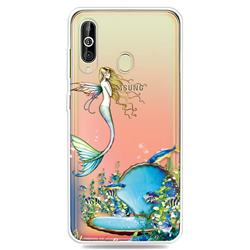 Mermaid Clear Varnish Soft Phone Back Cover for Samsung Galaxy A60
