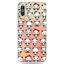Mini Panda Clear Varnish Soft Phone Back Cover for Samsung Galaxy A60