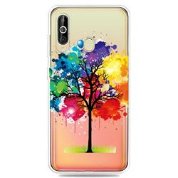 Oil Painting Tree Clear Varnish Soft Phone Back Cover for Samsung Galaxy A60