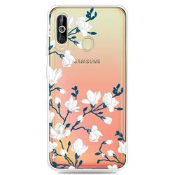Magnolia Flower Clear Varnish Soft Phone Back Cover for Samsung Galaxy A60