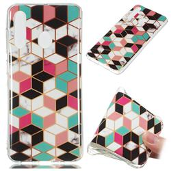 Three-dimensional Square Soft TPU Marble Pattern Phone Case for Samsung Galaxy A60