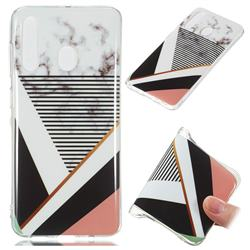 Pinstripe Soft TPU Marble Pattern Phone Case for Samsung Galaxy A60