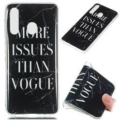 Stylish Black Soft TPU Marble Pattern Phone Case for Samsung Galaxy A60