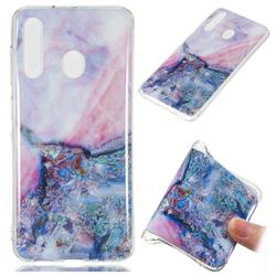 Purple Amber Soft TPU Marble Pattern Phone Case for Samsung Galaxy A60