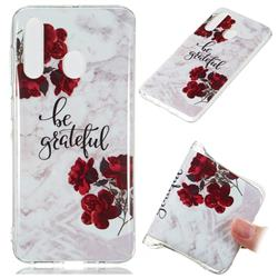 Rose Soft TPU Marble Pattern Phone Case for Samsung Galaxy A60