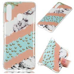 Diagonal Grass Soft TPU Marble Pattern Phone Case for Samsung Galaxy A60