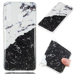 Black and White Soft TPU Marble Pattern Phone Case for Samsung Galaxy A60