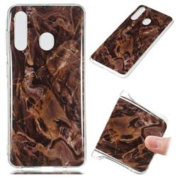 Brown Soft TPU Marble Pattern Phone Case for Samsung Galaxy A60