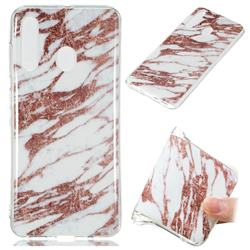 Rose Gold Grain Soft TPU Marble Pattern Phone Case for Samsung Galaxy A60