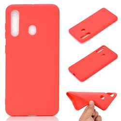 Candy Soft TPU Back Cover for Samsung Galaxy A60 - Red