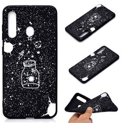Travel The Universe Chalk Drawing Matte Black TPU Phone Cover for Samsung Galaxy A60