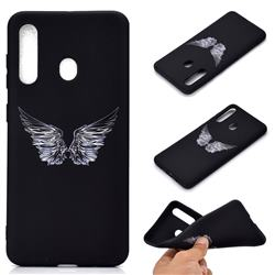 Wings Chalk Drawing Matte Black TPU Phone Cover for Samsung Galaxy A60