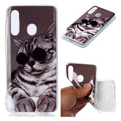 Kitten with Sunglasses Soft TPU Cell Phone Back Cover for Samsung Galaxy A60