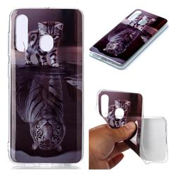 Cat and Tiger Soft TPU Cell Phone Back Cover for Samsung Galaxy A60